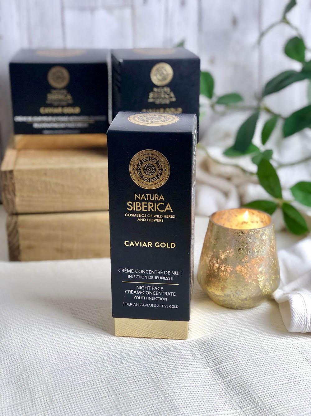Natura Siberica Caviar Gold éjszakai arckrémkoncentrátum